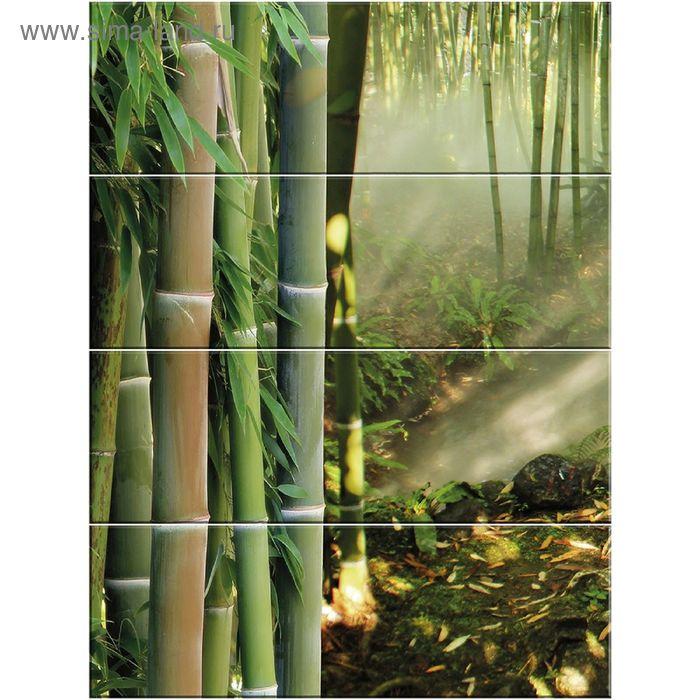 Панно Nature C-NT2H021D Дао 1 (набор 4 шт.), зелёное, 600х800 мм