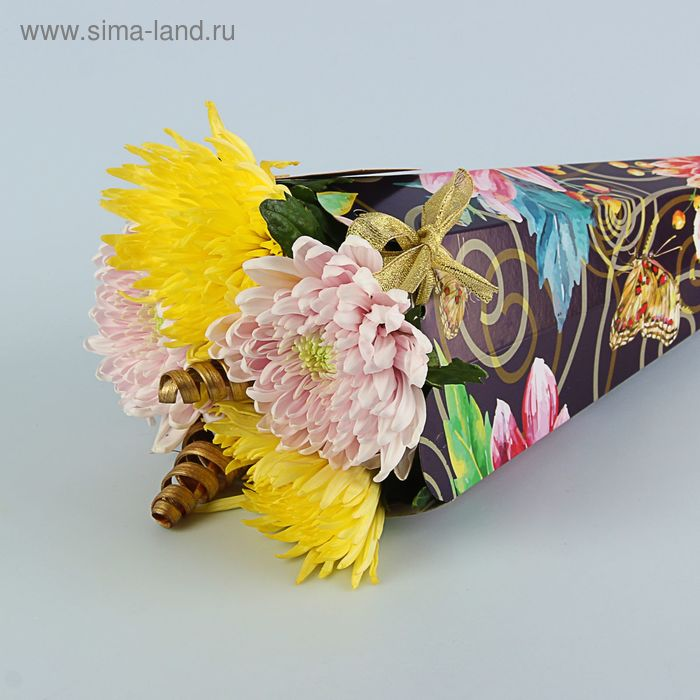 """Конус для цветов """"Хризантема"""" серия цветы, 27 х 13 см"""