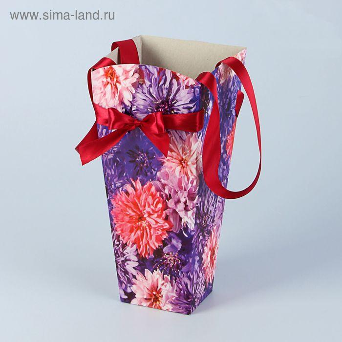 """Пакет для цветов """"Хризантема"""", индиго, 12 х 10 см"""