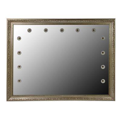 Зеркало  «Верона», гримёрное, в багетной раме, 13 лампочек, 100х80 см