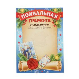 "Certificate of appreciation ""From Santa Claus"""