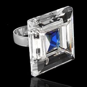 Кольцо 'Проксима', размер 17, цвет голубой в серебре Ош