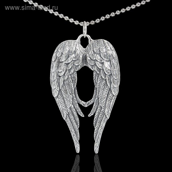 "Кулон ""Энжи"", цвет чернёное серебро, 45 см"