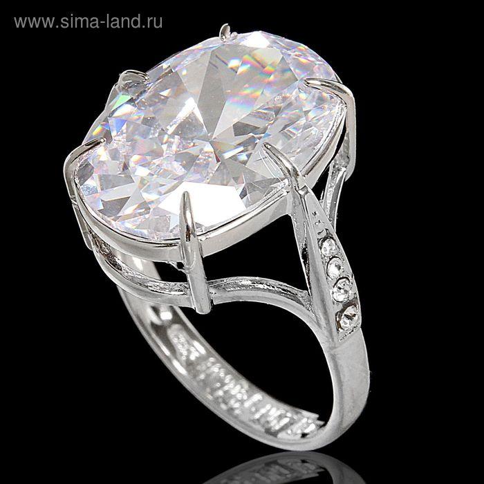 """Кольцо """"Вельмера"""", размер 18, цвет белый в серебре"""