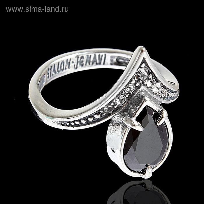 """Кольцо """"Фюрн"""", размер 19, цвет черный в черненом серебре"""