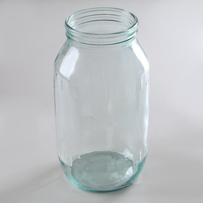 Банка стеклянная, 1,5 л, d (горлышка) = 82 мм, без крышки, СКО