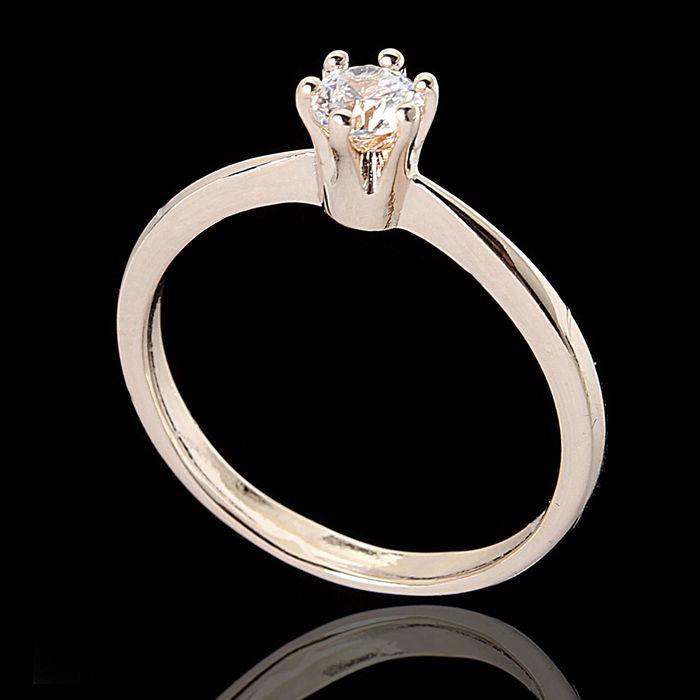 """Кольцо """"Шолемо"""", размер 17, цвет белый в золоте"""