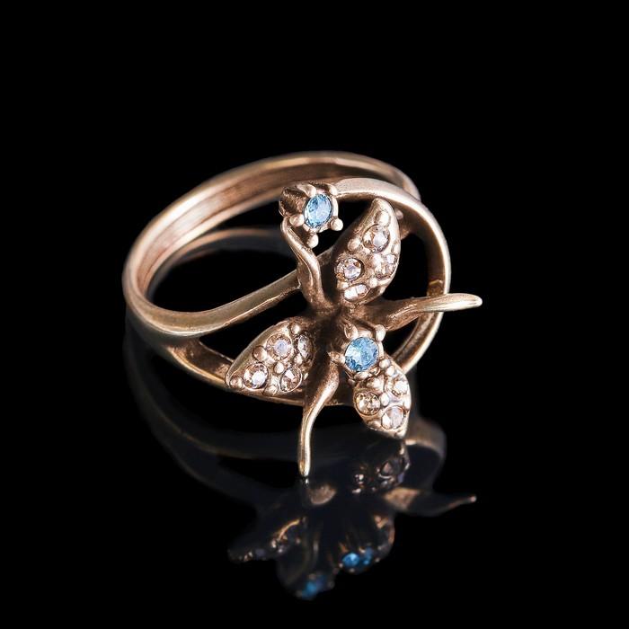 """Кольцо """"Гудалеара"""", размер 17, цветное в бронзе"""