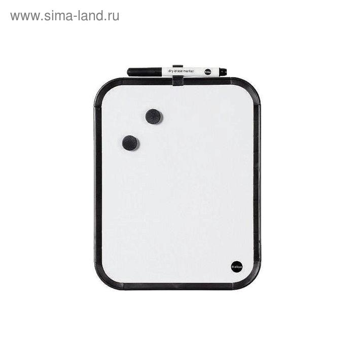 Доска магнитно-маркерная 27,9x35,5 см лаковое покрытие, планшет, черная рама