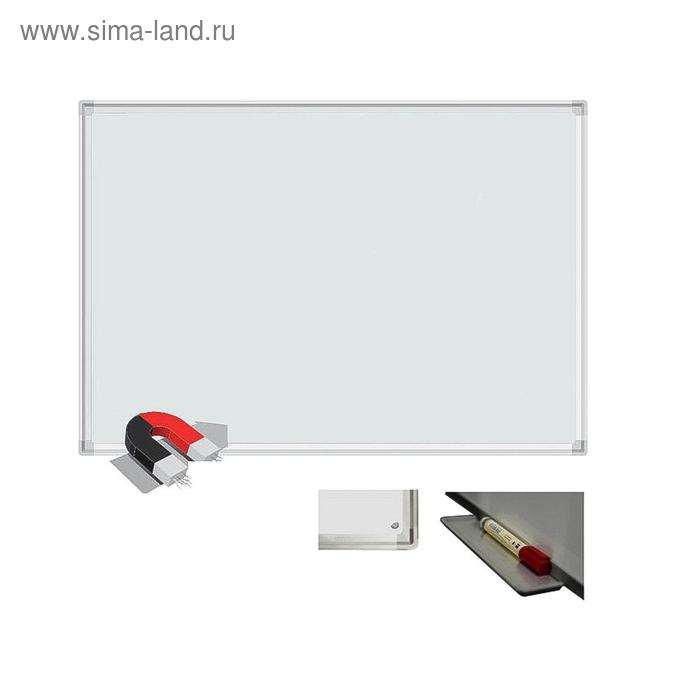 Доска магнитно-маркерная 1-элементная 100х150 см, металлический профиль