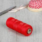 Нить для плетения, d = 1,1 мм, 100 ± 1 м, цвет красный