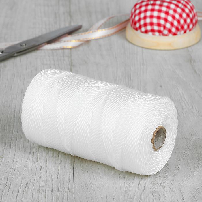 Нить для плетения, d = 2 мм, 70±1 м, цвет белый