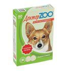 "Мультивитаминное лакомство ""Доктор  ZOO "" со вкусом печени, для собак, 90 таб."