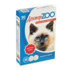 "Мультивитаминное лакомство ""Доктор ZOO - Здоровая кошка"" для кошек, 90 таб."