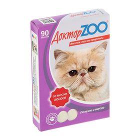Мультивитаминное лакомство 'Доктор  ZOO' со вкусом лосося, для кошек, 90 таб. Ош