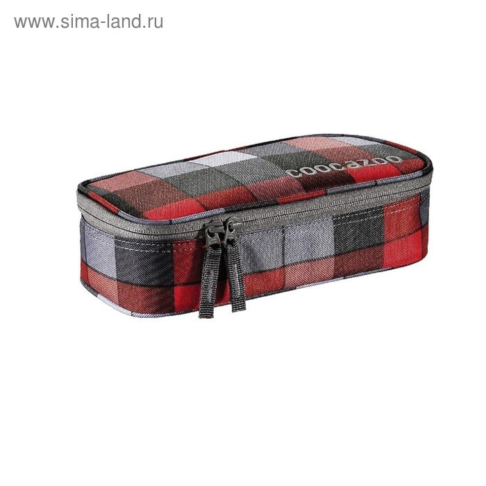 Пенал мягкий футляр ткань 240*110*60 откидная планка Coocazoo PencilDenzel красный