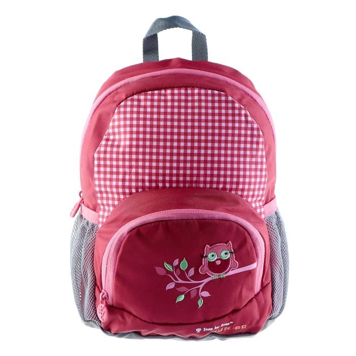 рюкзачок детский Step By Step Junior Dressy Cute owl 22*31*11см красный/розовый