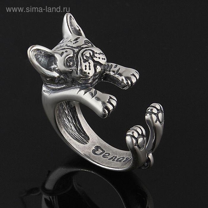 """Кольцо """"Брэйди"""", размер 17, черненое серебро"""
