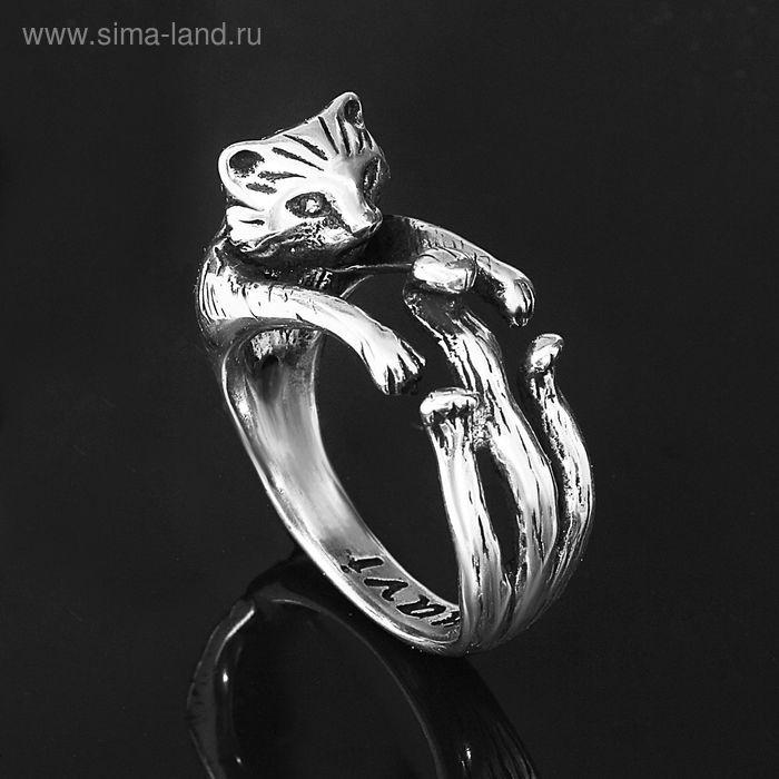 """Кольцо """"Тимон"""", размер 16, черненое серебро"""