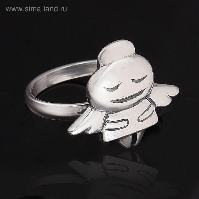 """Кольцо """"Юно"""", размер 18, цвет серебряный"""
