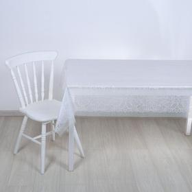 Скатерть без основы многоразовая «Ажур», 120×180 см, цвет прозрачный
