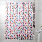 """Штора для ванной 180×180 см """"Бабочки"""", цвет белый"""