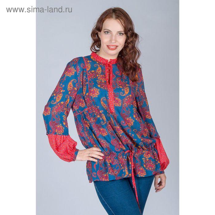 Блуза женская, размер 48, рост 170 см, цвет огурцы (арт. Y1163-0238)