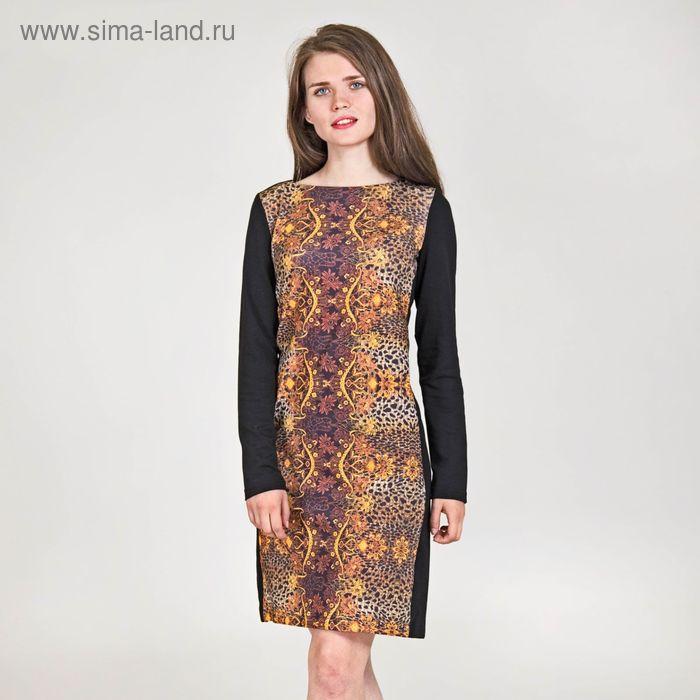 Платье женское, размер 42, рост 170 см, цвет чёрный (арт. Y0200-0227)