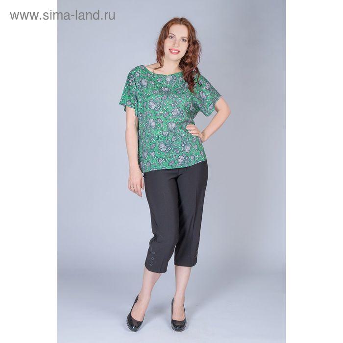 Блуза женская, размер 52, рост 170 см, цвет зелёный (арт. B1395-0869 С+)
