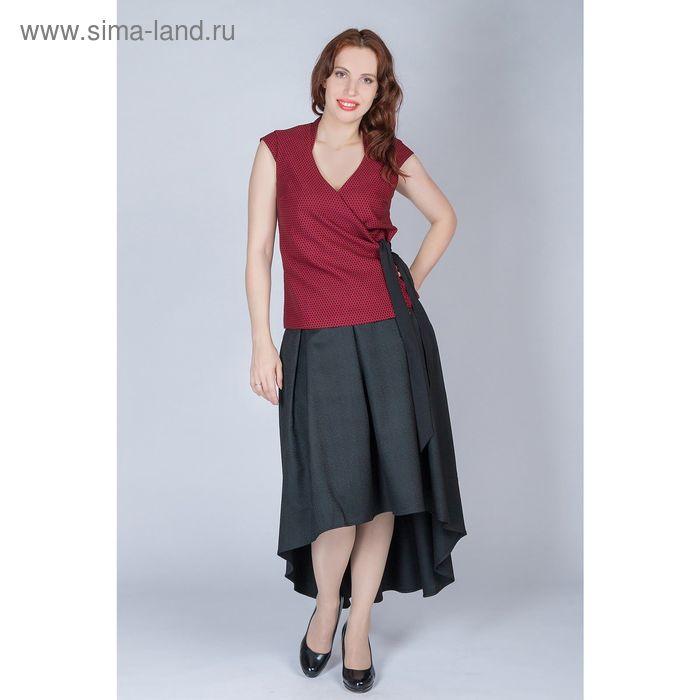 Блуза женская, размер 50, рост 170 см, цвет бордо (арт. Y9800-0101 С+)