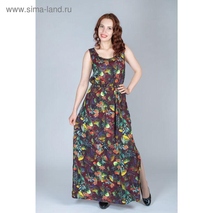 Платье женское, размер 42, рост 170 см, цвет цветной принт (арт. Y1159-0237)