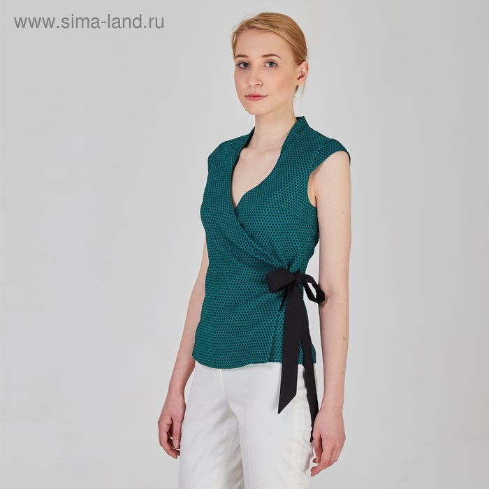Блуза женская, размер 44, рост 170 см, цвет зелёный (арт. Y9831-0101)