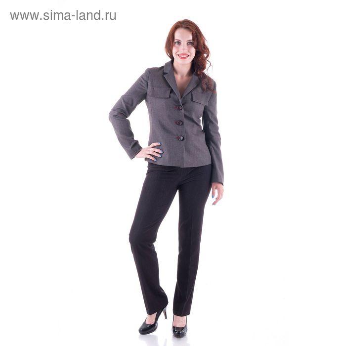 Жакет женский, размер 48, рост 170 см, цвет серо-коричневый меланж (арт. Y4319-0222new)