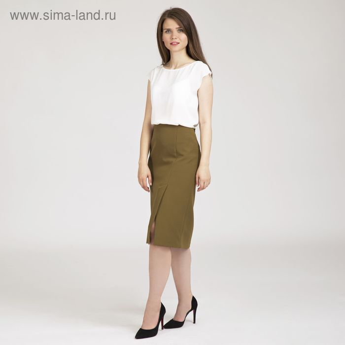 Юбка женская, размер 50, рост 170 см, цвет оливковый (арт. Y1510-0133 С+)