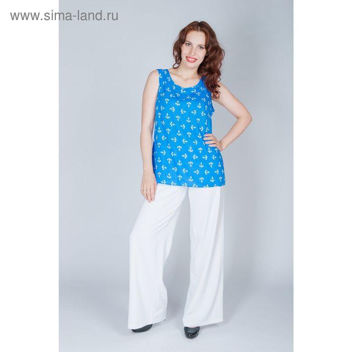 Блуза женская, размер 54, рост 170 см, цвет синий (арт. Y1156-0230 С+)