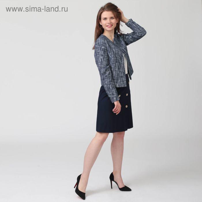 Жакет женский Y7901-0174, цвет синий меланж, размер 42, рост 170