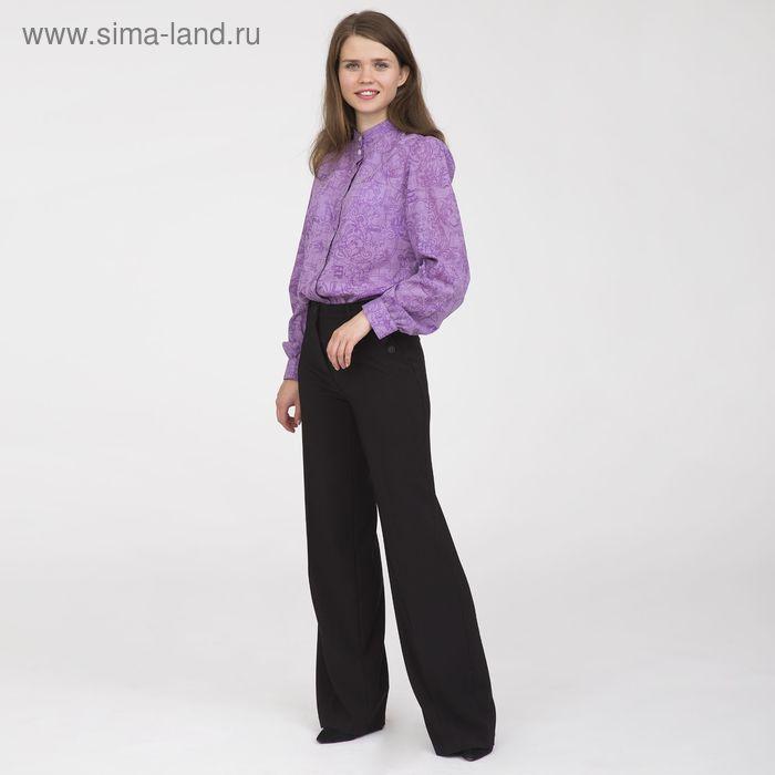 Блуза женская, размер 50, рост 170 см, цвет сиреневый (арт. Y1375-0183 С+)