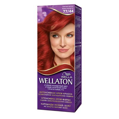 "Крем-краска Wellaton ""Красный вулкан 77/44"", 60 мл"