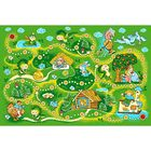 Ковер принт Сказка, размер 100х150 см, цвет зеленый, полиамид