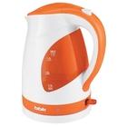 Чайник электрический BBK EK1700P, 2200 Вт, 1.7 л, пластик, бело-оранжевый
