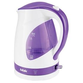 Чайник электрический BBK EK1700P, 2200 Вт, 1.7 л, бело-фиолетовый