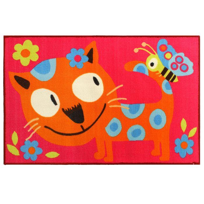 Ковер «Котик», 80х125 см, бежевый