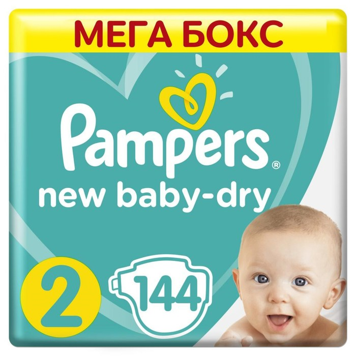 "Подгузники Pampers New Baby ""Памперс Нью Бэби"" 2 Mini (4-8 кг), 144 шт"