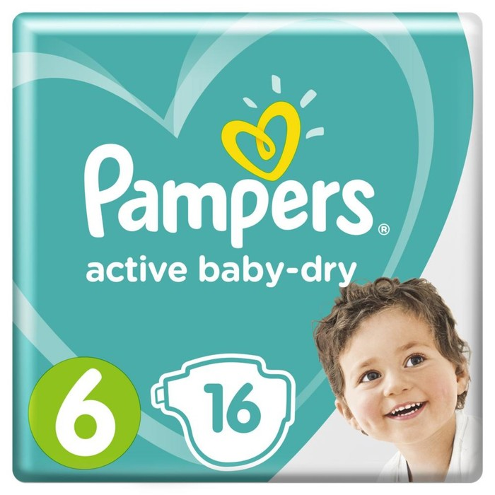 Подгузники Pampers Active Baby Extra Large (15+ кг), 16 шт