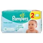 Детские влажные салфетки Pampers Baby Fresh, сменный блок, 2×64 шт