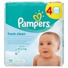 Детские влажные салфетки Pampers Fresh Clean, сменный блок, 4×64 шт