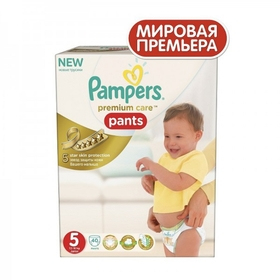 167df6e1acd4 Трусики-подгузники PAMPERS Premium Care Pants 5 Junior (11-18 кг),