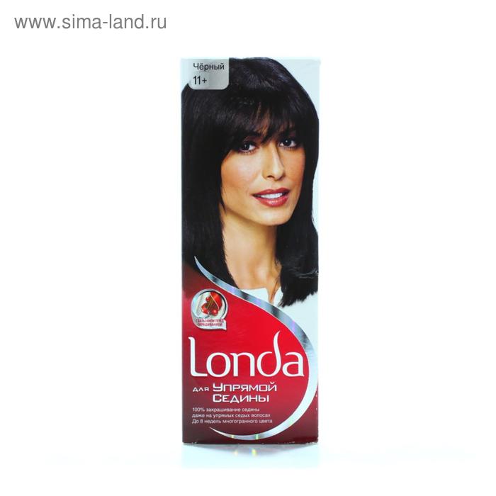 """Крем-краска для волос Londa """"Для упрямой седины"""", черная, 60 мл"""
