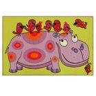 Ковер принт Бегемотик, размер 80х125 см, цвет 130 бежевый, полиамид