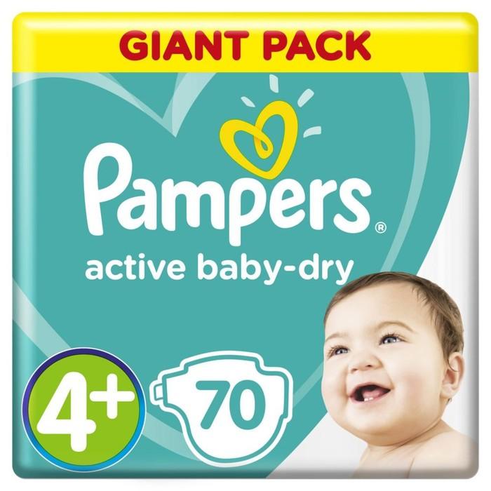 Подгузники Pampers Active Baby Maxi Plus 9–16 кг, 70 шт